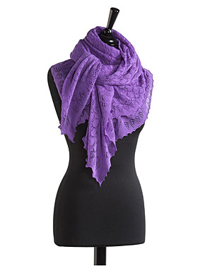 Exquisite Cashmere And Wool Lace Wrap
