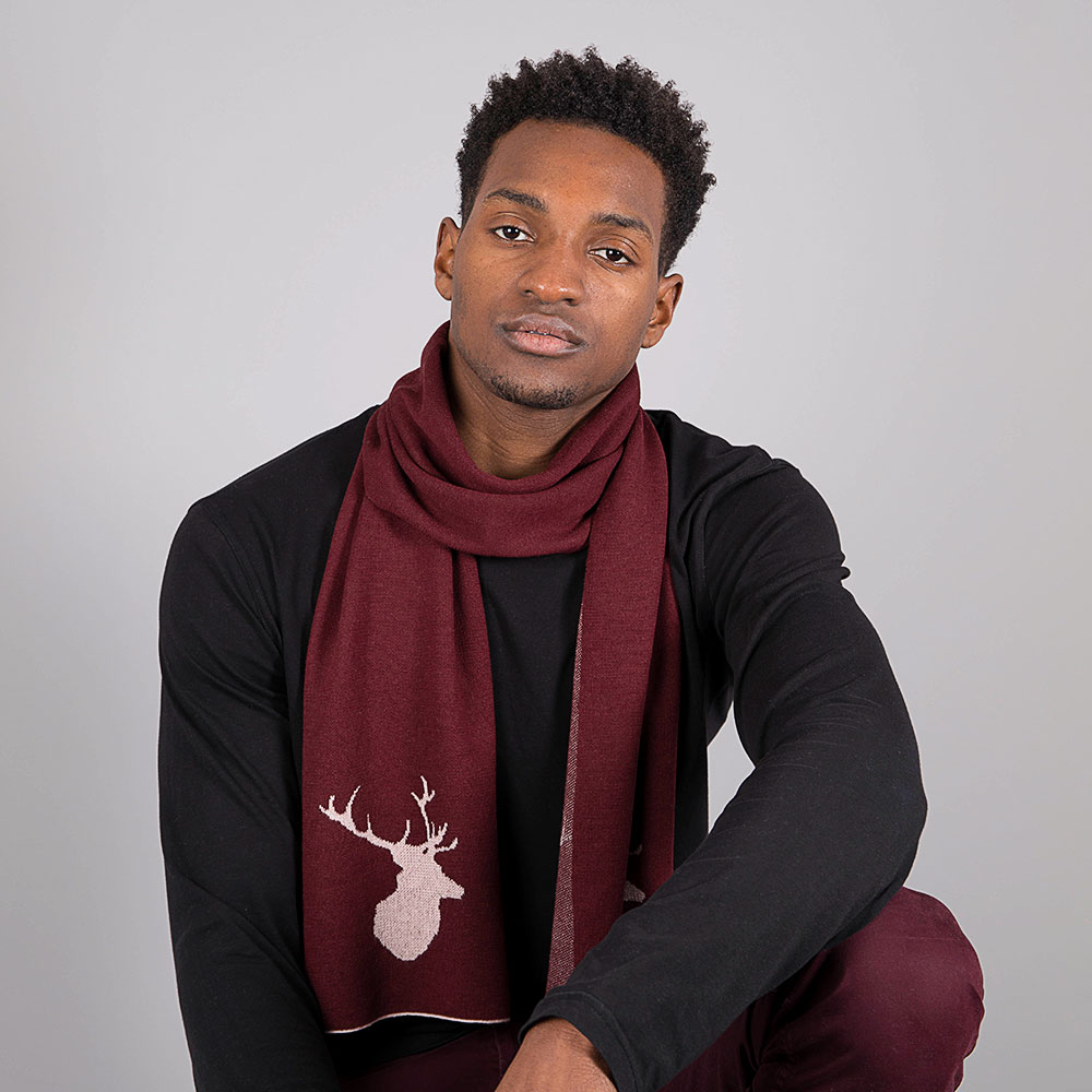 Mens Port Stag Scarf