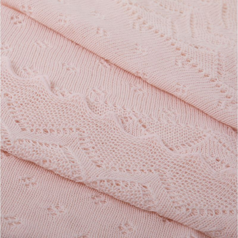 Close up Pink Lacy Acrylic Receiving Shawl