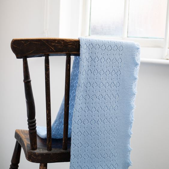 Blue Folded Cosy Cashmere