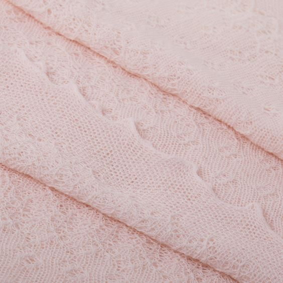 Pink Close up Soft Lacy Baby Shawl