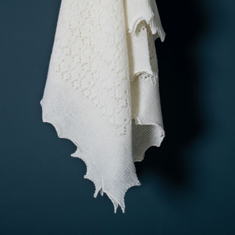 White Cashmere flowing baby shawl