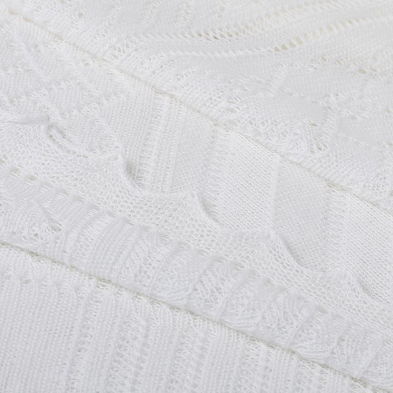 White Close up Lightweight Patchwork Baby Shawl