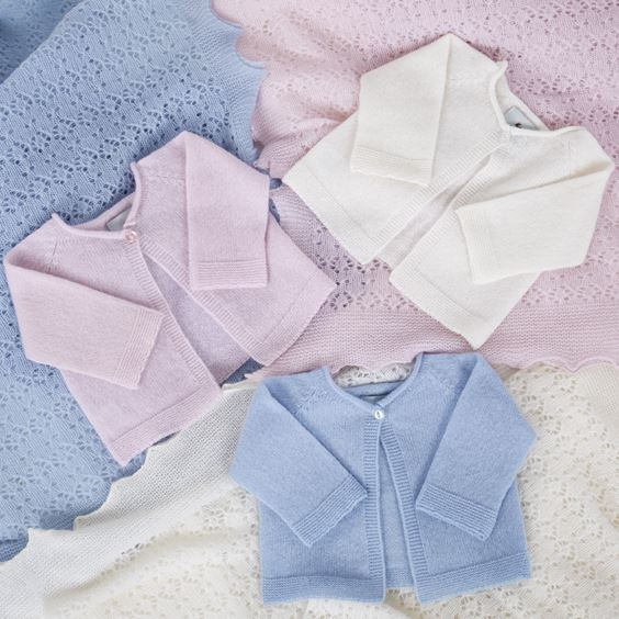 collection of cashmere baby cardigans