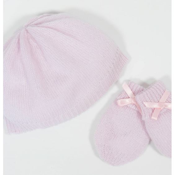 Cashmere Baby Hat and Mittens - White