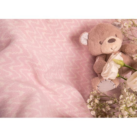 soft toy and personalised cashmere blanket