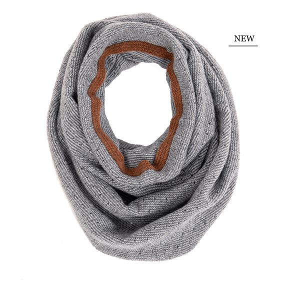 Polka Dot Snood with Contrast Stripe - Mirage