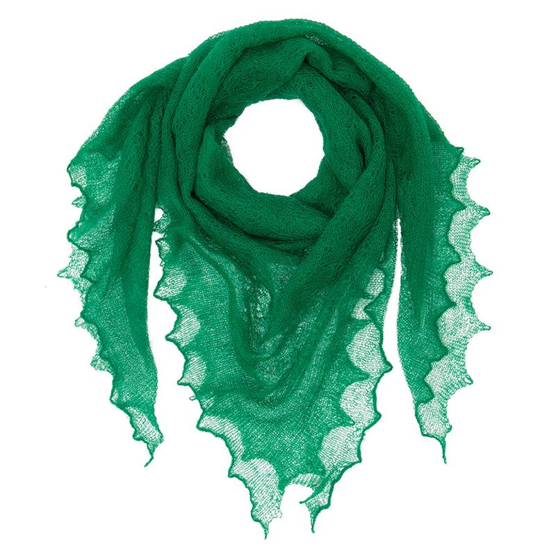 Kid Mohair Shawl - Emerald