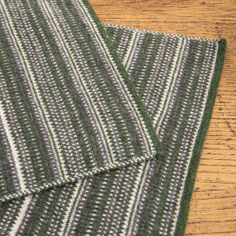 The Burghley - Tweed Jacquard Scarf - Moss