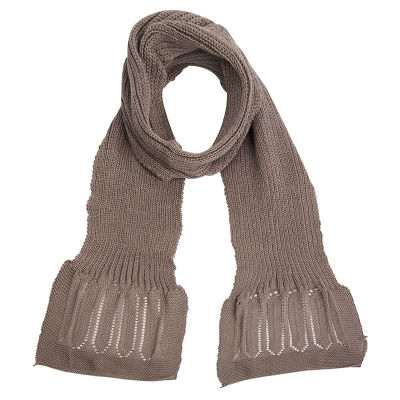 Cotton Rib Neck Scarf - Granite
