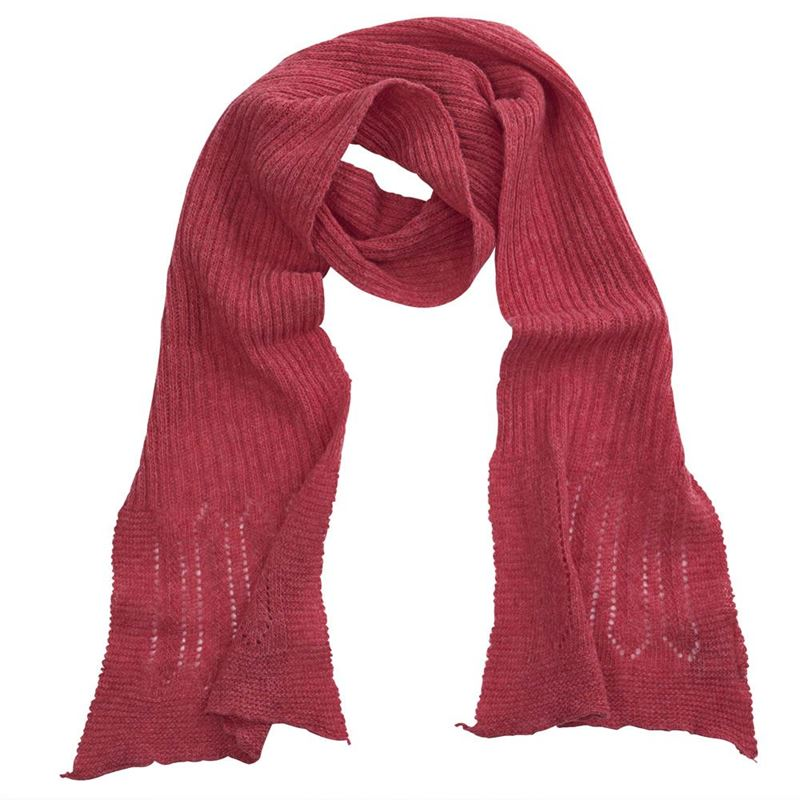 Lambswool Rib Neck Scarf - Moroccan Rose