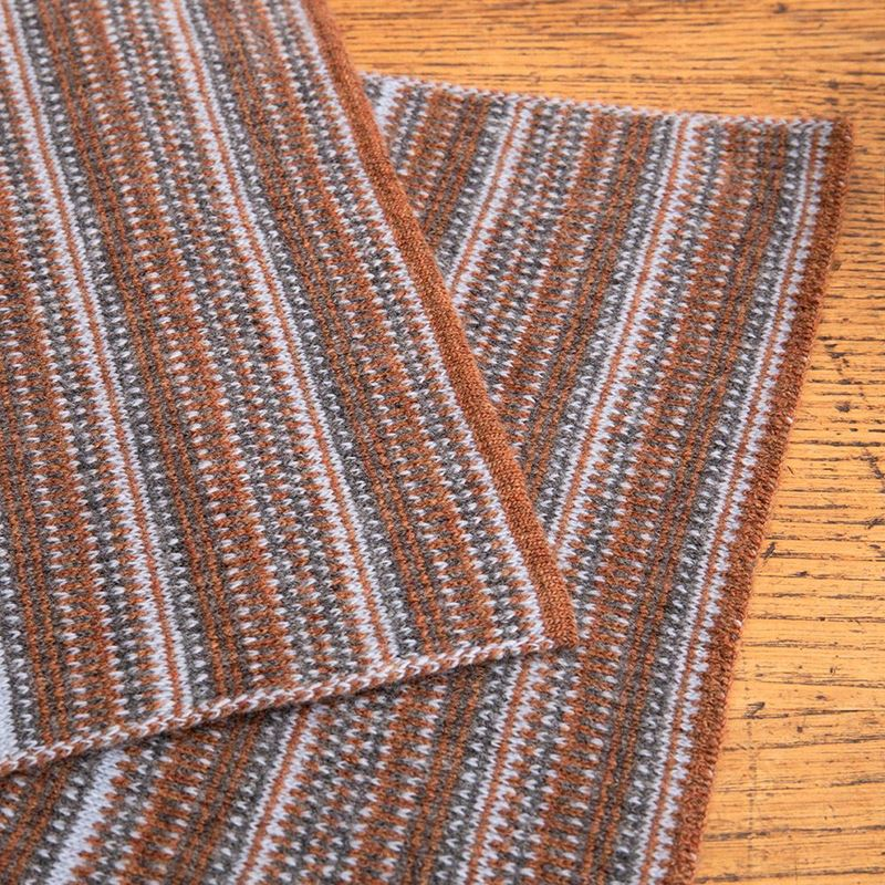 The Burghley - Tweed Jacquard Scarf - Hazelnut