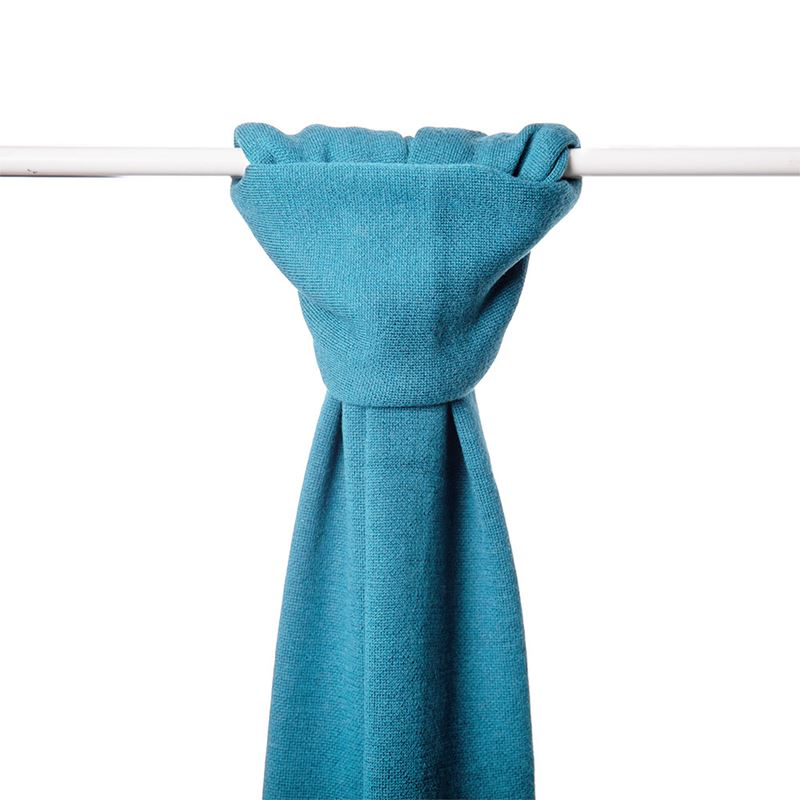 Lambswool Plain Knit Scarf - Barbados Blue