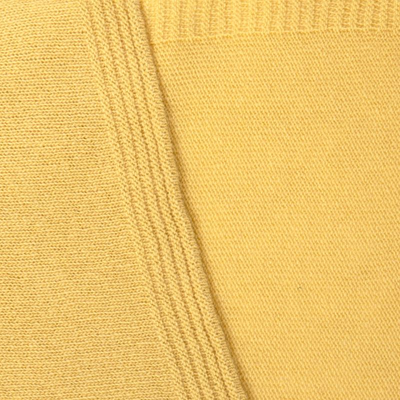 Ladies Lambswool Plain Knit Scarf - Brass