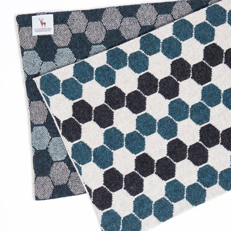 Ladies Lambswool Hexagon Scarf - Lugano