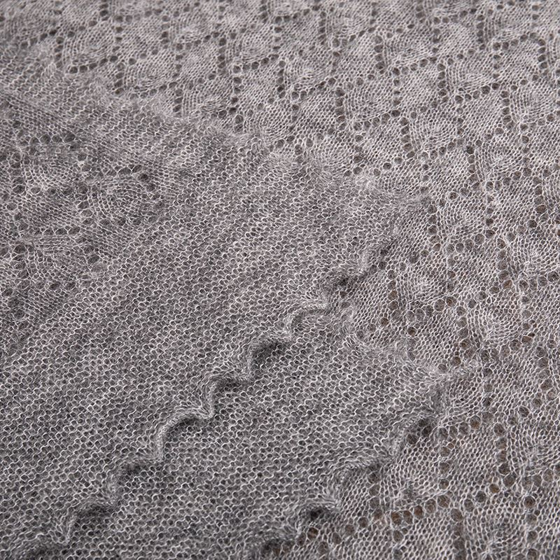 The Belton - Mohair Lace Scarf- Grey