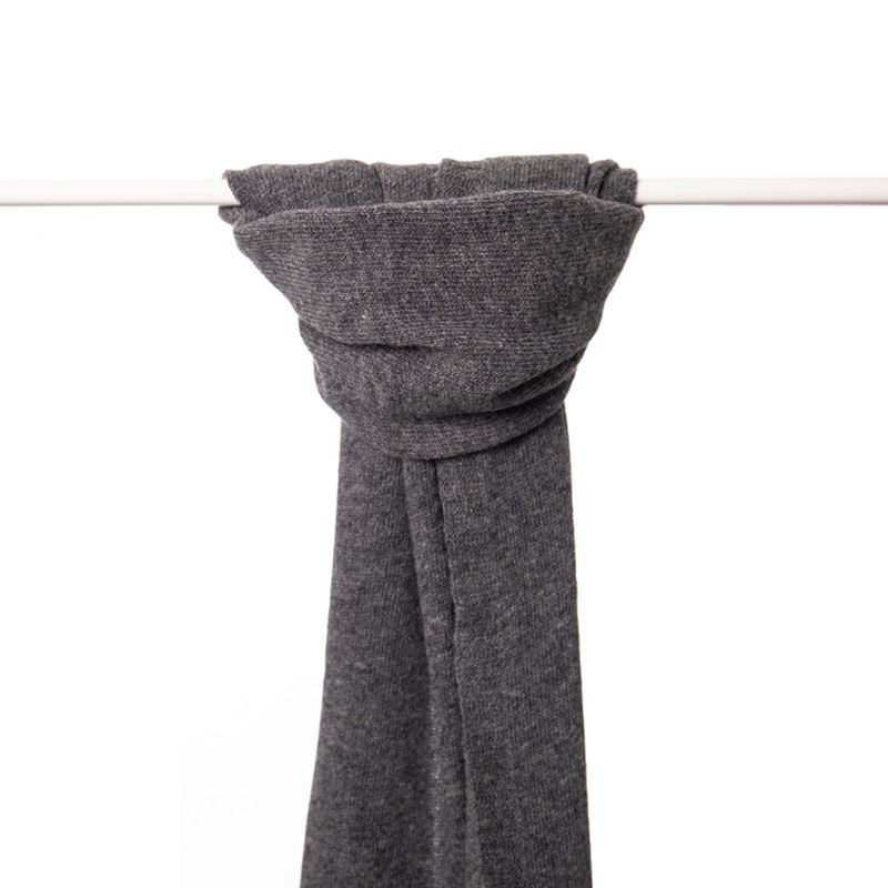 Ladies Lambswool Plain Knit Scarf - Derby Grey