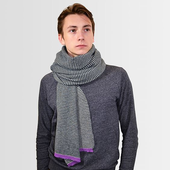 Lugano striped scarf