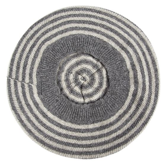 Lambswool Striped Beret