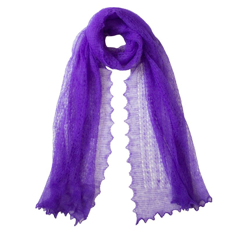 Linear lace mohair stole