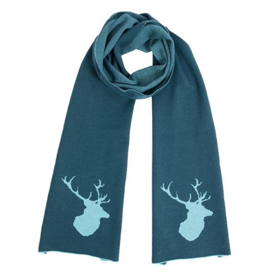 Men's Teal Stag Scarf
