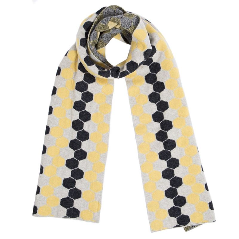 Men's Brass Lambswool Hexagon Scarf