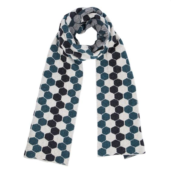 Men's Lugano Lambswool Hexagon Scarf