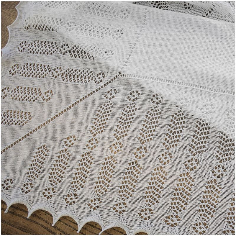 Nottingham Lace Knitted Baby Shawl