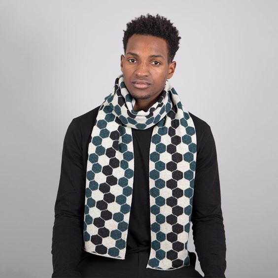 Lugano Lambswool Hexagon Scarf