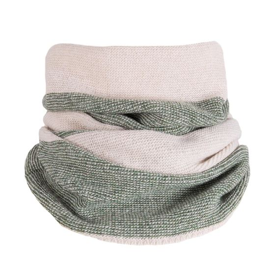 Lambswool Moss Purl Knit Neck Warmer