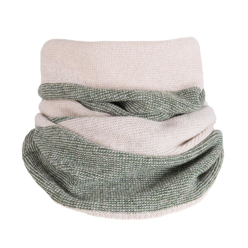 Lambswool Purl Knit Neck Warmer - Moss