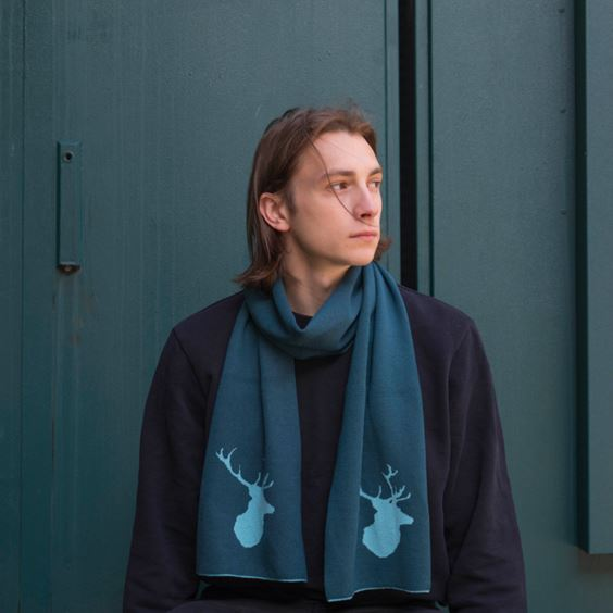 Teal Stag Scarf | G H Hurt & Son