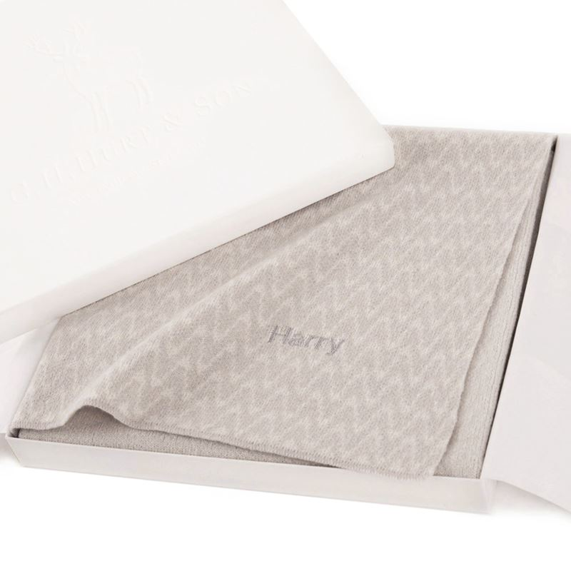 Grey Cashmere baby blanket gift box