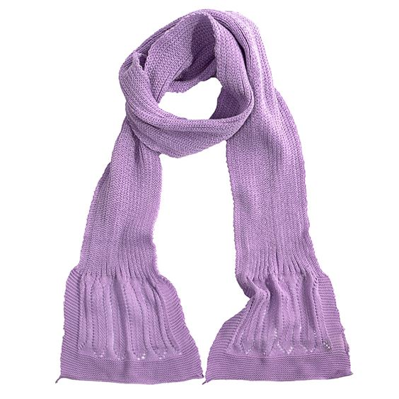Cotton rib neck scarf