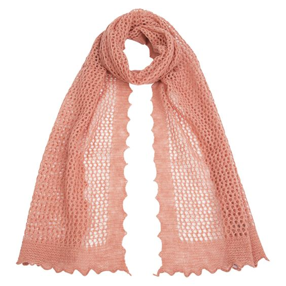Softly Textured Honeycomb Scarf - Dusky Rose