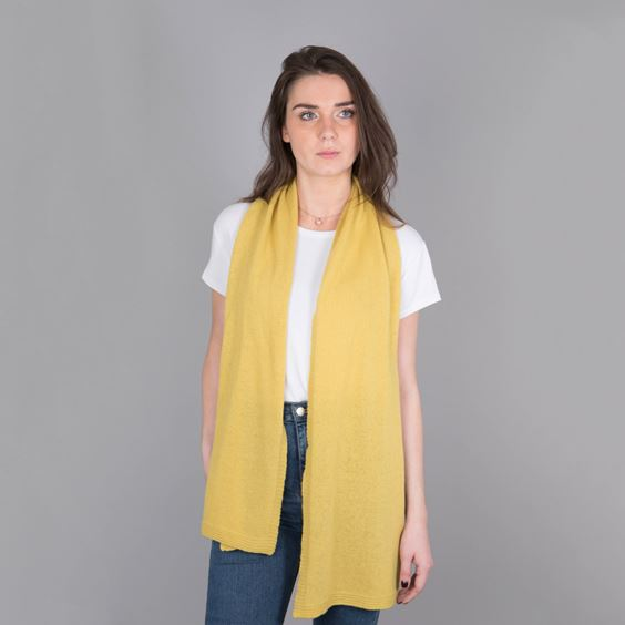 Lambswool Bold Plain Knit Scarf
