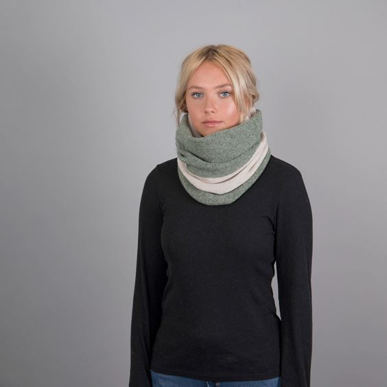 Lambswool Purl Knit Neck Warmer